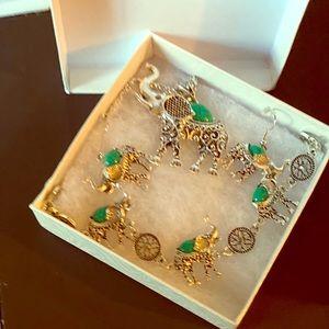 Gorgeous Elephant Necklace, bracelet &!earrings!!